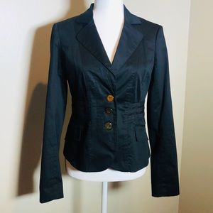Beautiful Black with Gold Buttons Blazer